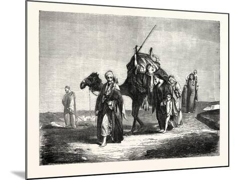 Convoy Funeral in the Desert of Suez, Egypt. 1855--Mounted Giclee Print