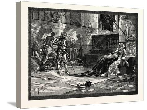 Capture of Bruce's Wife and Daughter at Tain--Stretched Canvas Print