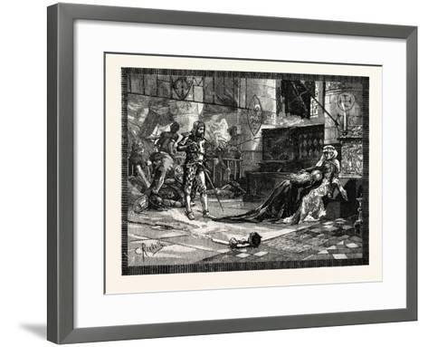 Capture of Bruce's Wife and Daughter at Tain--Framed Art Print