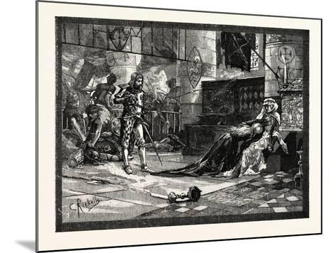 Capture of Bruce's Wife and Daughter at Tain--Mounted Giclee Print