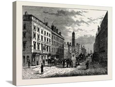 New Bridge Street and the Obelisk in 1795, London--Stretched Canvas Print