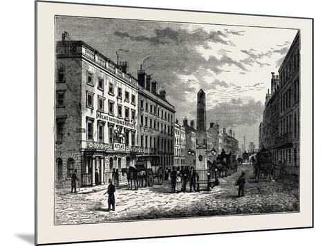 New Bridge Street and the Obelisk in 1795, London--Mounted Giclee Print