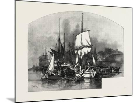Montreal, Wood Barges, Canada, Nineteenth Century--Mounted Giclee Print