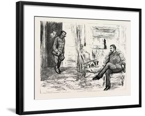 A Visit to Admiral Gervais on Board His Ship--Framed Art Print