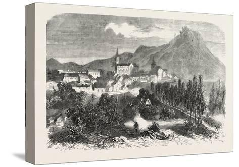 Franco-Prussian War: View of Forbach, 1870--Stretched Canvas Print