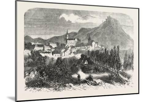 Franco-Prussian War: View of Forbach, 1870--Mounted Giclee Print