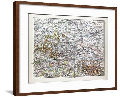 Map of Sachsen-Anhalt Sachsen Saxony Germany 1899--Framed Art Print