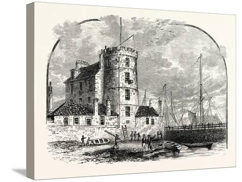 Edinburgh: Signal Tower Leith Harbour 1829--Stretched Canvas Print