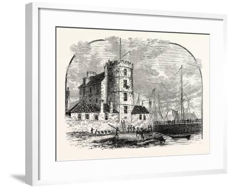 Edinburgh: Signal Tower Leith Harbour 1829--Framed Art Print