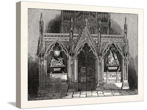 The New Screen in Westminster Abbey, London, UK--Stretched Canvas Print