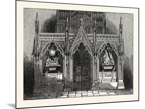 The New Screen in Westminster Abbey, London, UK--Mounted Giclee Print