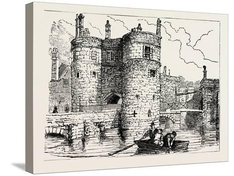 Moat and Entrance Tower of the Tower of London--Stretched Canvas Print