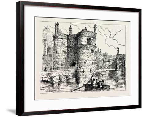 Moat and Entrance Tower of the Tower of London--Framed Art Print