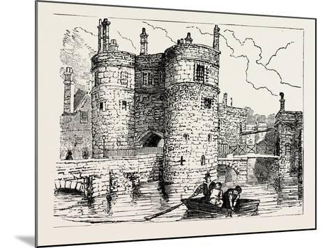 Moat and Entrance Tower of the Tower of London--Mounted Giclee Print