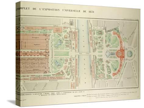 Map of the Universal Exposition of 1878 Paris--Stretched Canvas Print