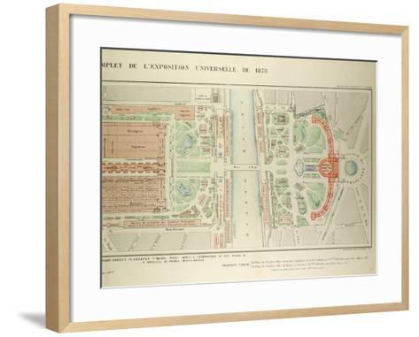 Map of the Universal Exposition of 1878 Paris--Framed Art Print