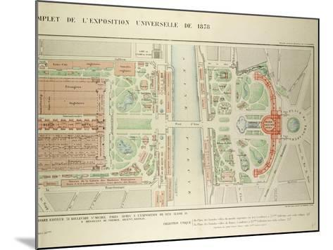 Map of the Universal Exposition of 1878 Paris--Mounted Giclee Print