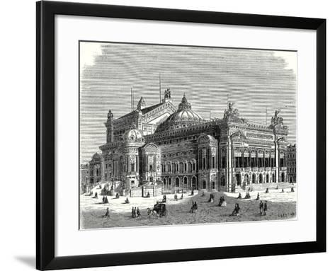 The New Opera in Paris and its Lightning Rods--Framed Art Print