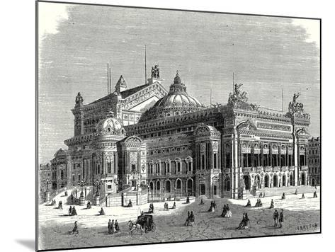 The New Opera in Paris and its Lightning Rods--Mounted Giclee Print