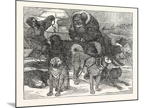 Eskimaux Harnessing their Dogs to a Sledge--Mounted Giclee Print