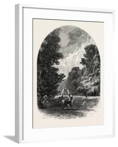The Chestnuts and Deer in Bushey Park, UK--Framed Art Print