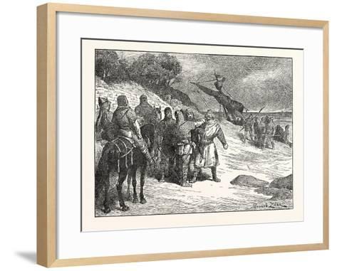 Harold Taken Prisoner by the Count of Ponthieu--Framed Art Print