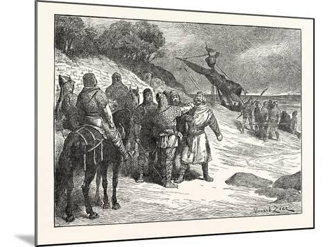 Harold Taken Prisoner by the Count of Ponthieu--Mounted Giclee Print