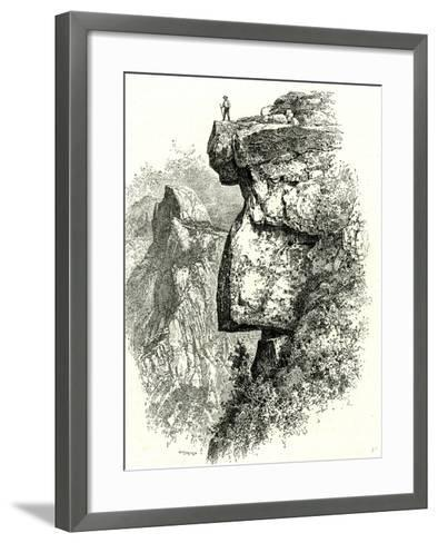 Yosemite Valley Upon Glacier Point USA 1891--Framed Art Print