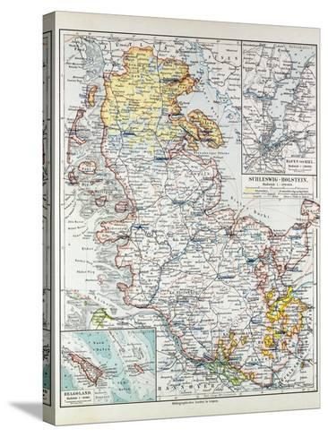 Map of Schleswig-Holstein Germany 1899--Stretched Canvas Print