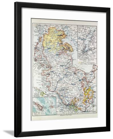 Map of Schleswig-Holstein Germany 1899--Framed Art Print