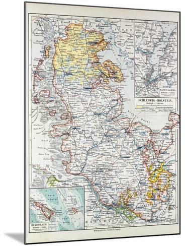 Map of Schleswig-Holstein Germany 1899--Mounted Giclee Print