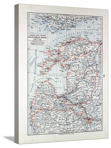 Map of Estland Letland Lithuania 1899--Stretched Canvas Print