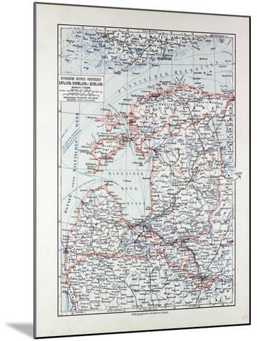 Map of Estland Letland Lithuania 1899--Mounted Giclee Print