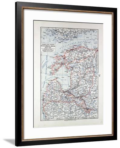 Map of Estland Letland Lithuania 1899--Framed Art Print