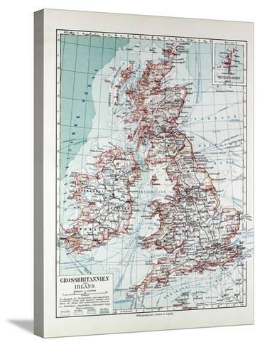 Map of Great Britain and Ireland 1899--Stretched Canvas Print
