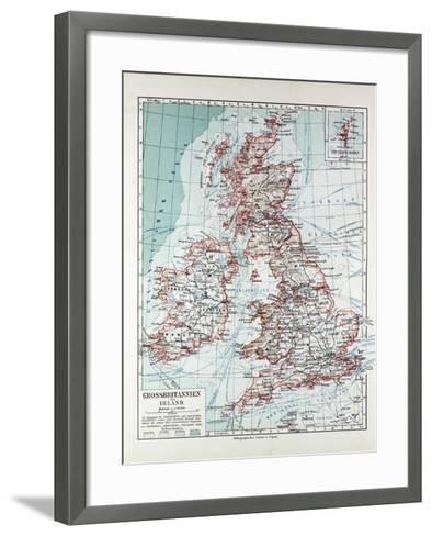 Map of Great Britain and Ireland 1899--Framed Art Print