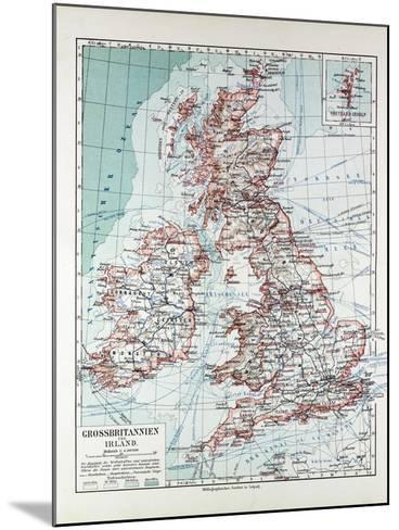 Map of Great Britain and Ireland 1899--Mounted Giclee Print