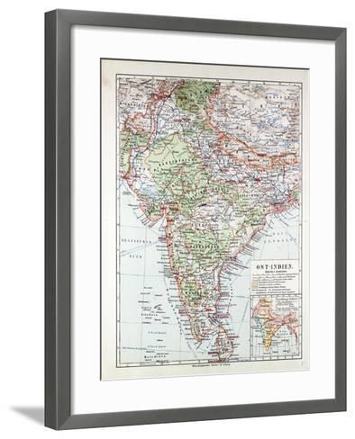 Map of India Pakistan and Tibet 1899--Framed Art Print