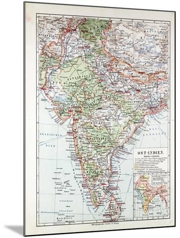 Map of India Pakistan and Tibet 1899--Mounted Giclee Print