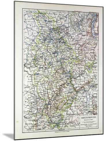 Map of the Rheinprovinz Germany 1899--Mounted Giclee Print