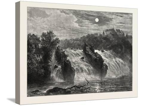 The Falls of the Rhine, 19th Century--Stretched Canvas Print