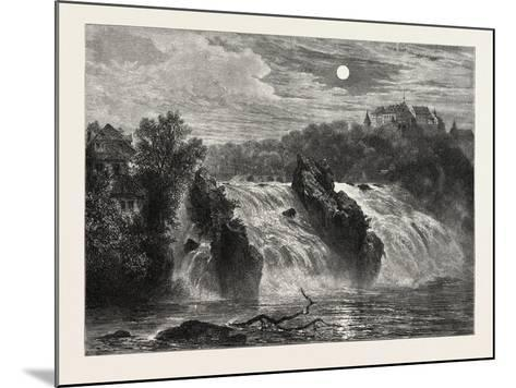 The Falls of the Rhine, 19th Century--Mounted Giclee Print