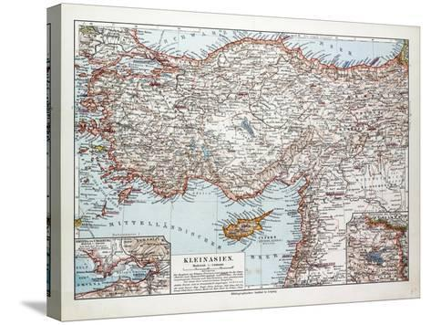 Map of Turkey Cyprus and Syria 1899--Stretched Canvas Print