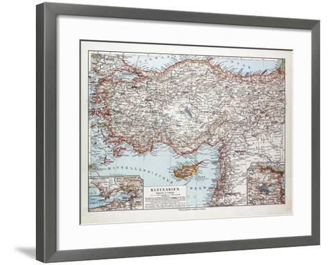 Map of Turkey Cyprus and Syria 1899--Framed Art Print