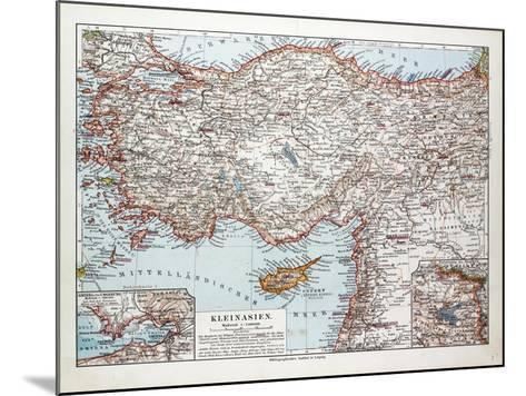 Map of Turkey Cyprus and Syria 1899--Mounted Giclee Print