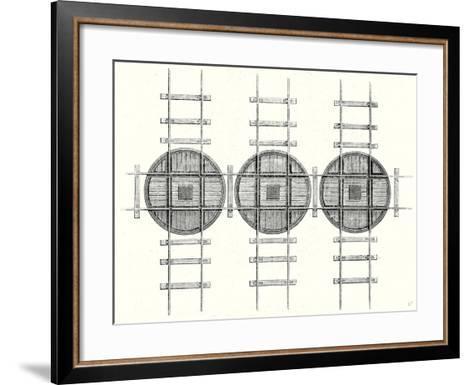 Rectangular Railway Turning Plates--Framed Art Print