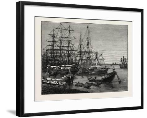 View of the Port of Calcutta, India--Framed Art Print