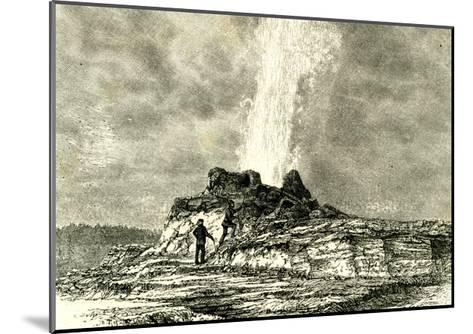 The Castle Geyser in Action 1891 Usa--Mounted Giclee Print