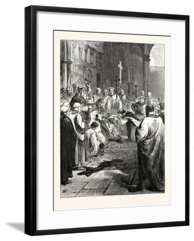 John Doing Homage to the Pope's Legate--Framed Art Print