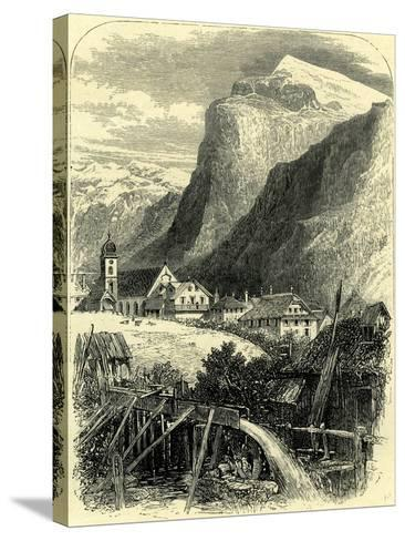 Engelberg and the Titlis Switzerland--Stretched Canvas Print